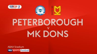 Peterborough 2-0 MK Dons