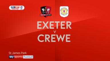 Exeter 3-0 Crewe
