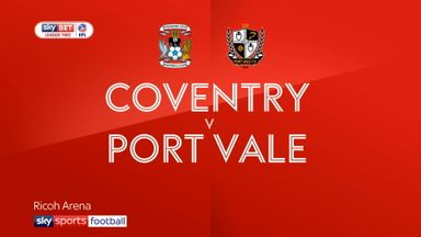 Coventry 1-0 Port Vale