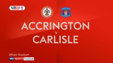 Accrington 3-0 Carlisle