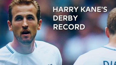 Harry Kane's derby record
