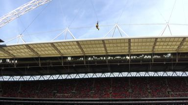 Jags mascot bungees into Wembley