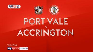 Port Vale 1-2 Accrington