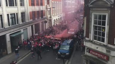 Cologne fans march in north London