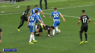 Hemed to face action for 'stamp'?