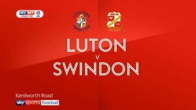 Luton 0-3 Swindon