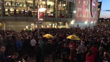 Arsenal fans stuck outside Emirates