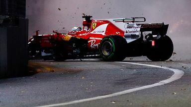 Hamilton's view of Vettel exit