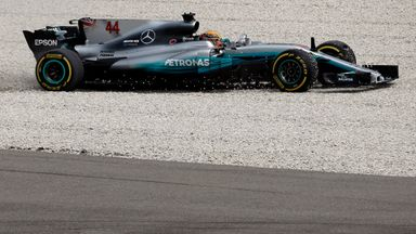 Hamilton in the gravel