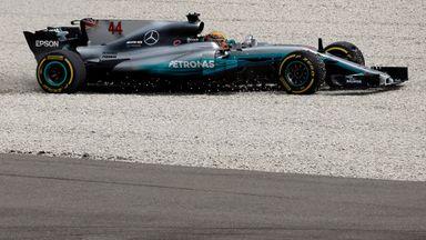 Hamilton in the gravel