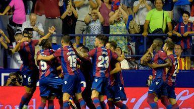 Levante centre-back Chema Rodriguez scores a Zidane-esque volley
