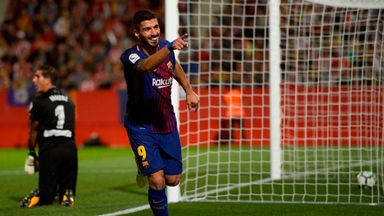 Girona 0-3 Barcelona: Luis Suarez and two own goals seal win