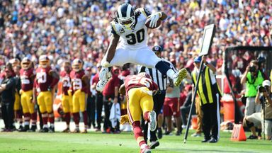 Incredible Gurley hurdle for TD