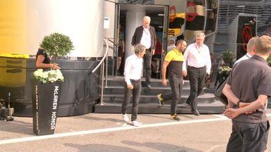 Renault chiefs at McLaren