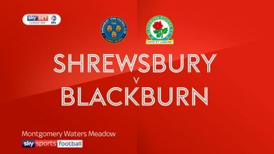 Shrewsbury 1-1 Blackburn