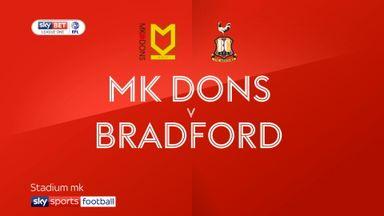 MK Dons 1-4 Bradford