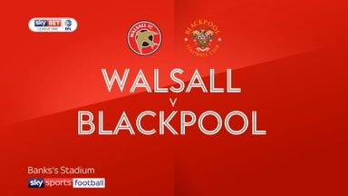 Walsall 1-1 Blackpool