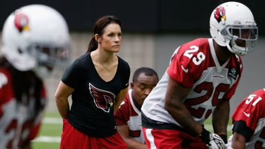 Jen Welter: NFL's first female coach