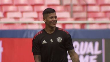 Rojo trains in Portugal