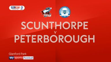Scunthorpe 2-1 Peterborough
