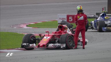 Vettel and Stroll's bizarre collision