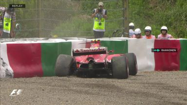 Raikkonen crashes in practice
