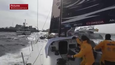 Volvo Ocean Race dramatic start