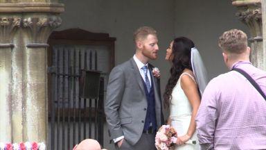 Ben Stokes weds fiancee