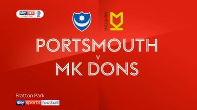 Portsmouth 2-0 MK Dons