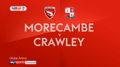 Morecambe 0-1 Crawley