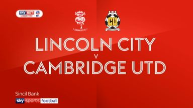 Lincoln City 0-0 Cambridge Utd