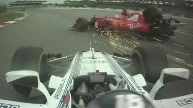 New on-board footage of Stroll-Vettel crash