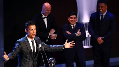 Ronaldo reacts to winning FIFA Best Men's award