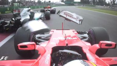 Vettel and Hamilton collide in Mexico