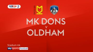 MK Dons 4-4 Oldham
