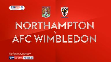 Northampton 0-1 AFC Wimbledon