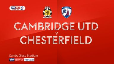 Cambridge 2-1 Chesterfield