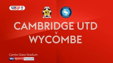 Cambridge Utd 1-3 Wycombe