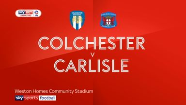 Colchester 0-1 Carlisle