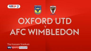 Oxford Utd 3-0 AFC Wimbledon