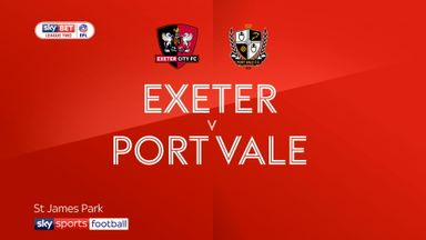 Exeter 0-1 Port Vale