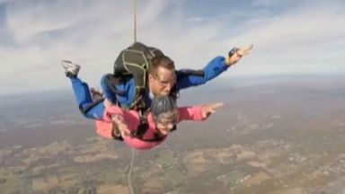 94-year-old woman skydives for her birthday