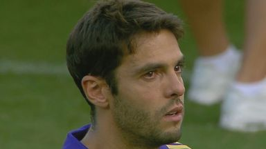 Kaka's tearful farewell