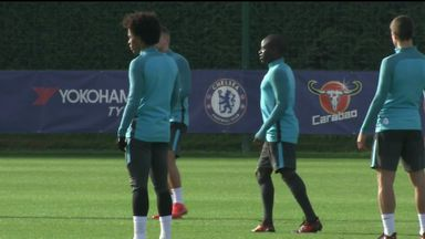 Kante trains ahead of Chelsea tie