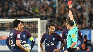 Neymar sent off in fiery Le Classique