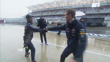 US GP Best Bits - Rain Dancing