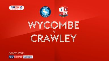 Wycombe 4-0 Crawley