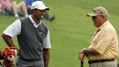 Harmon excited by Woods return