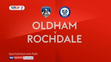 Oldham 3-1 Rochdale