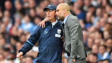 Pep sends 'big hug' to Pulis
